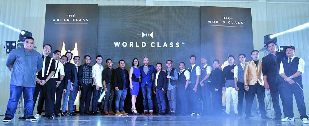 The contestants of Diageo Philippines World Class 2016 with Tim Etherington- Judge and Diageo Reserve Philippines Luxury Manager Marie Ona