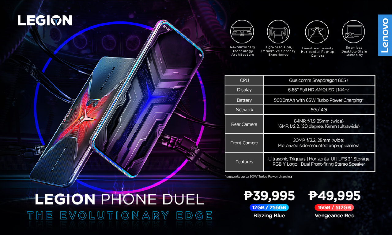 Lenovo Legion Phone Duel - Specs & Pricing